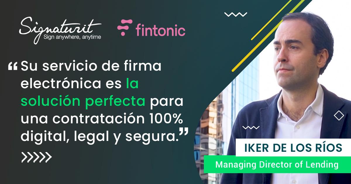 FINTONIC, contratación 100% digital con Signaturit