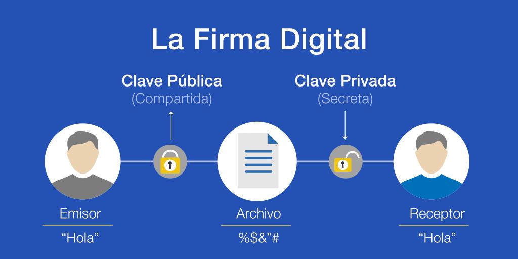La firma digital. Sus componentes.
