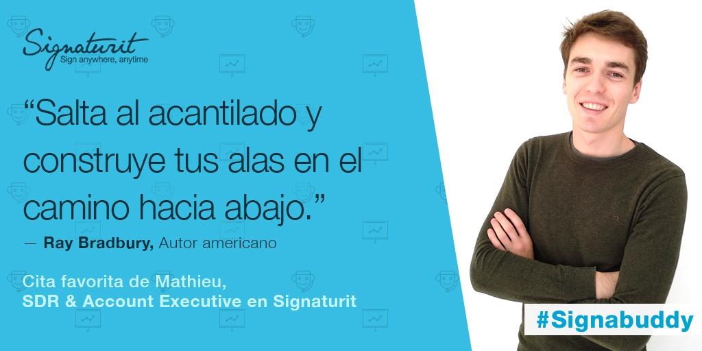 Signabuddies: Mathieu Ost, SDR & Account Executive at Signaturit