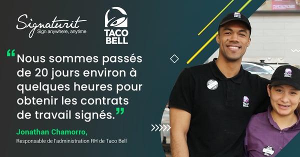 Taco bell signature électronique