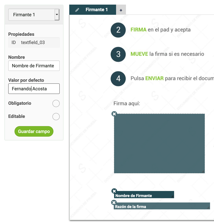Los widgets se pueden configurar como no editables directamente desde el panel de control