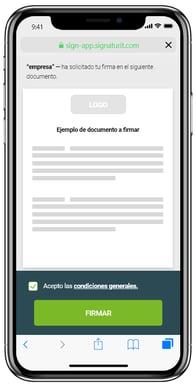tipos de firmas: firma electrónica simple de Signaturit. Firma con un clic desde tu smartphone