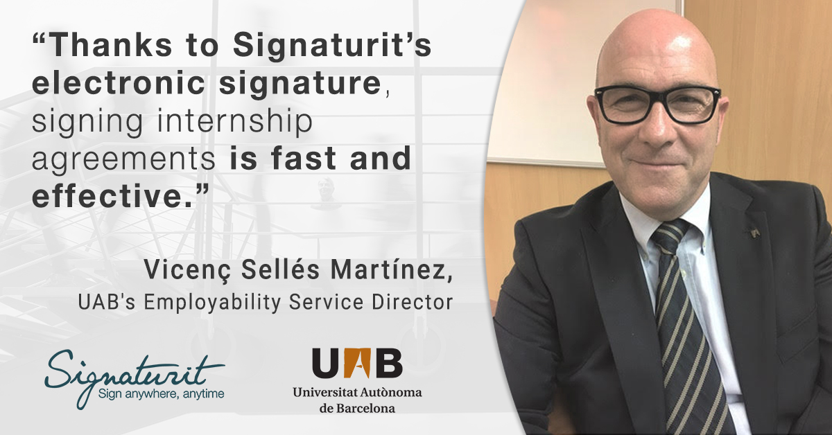 How the Autonomous University of Barcelona uses the electronic signature