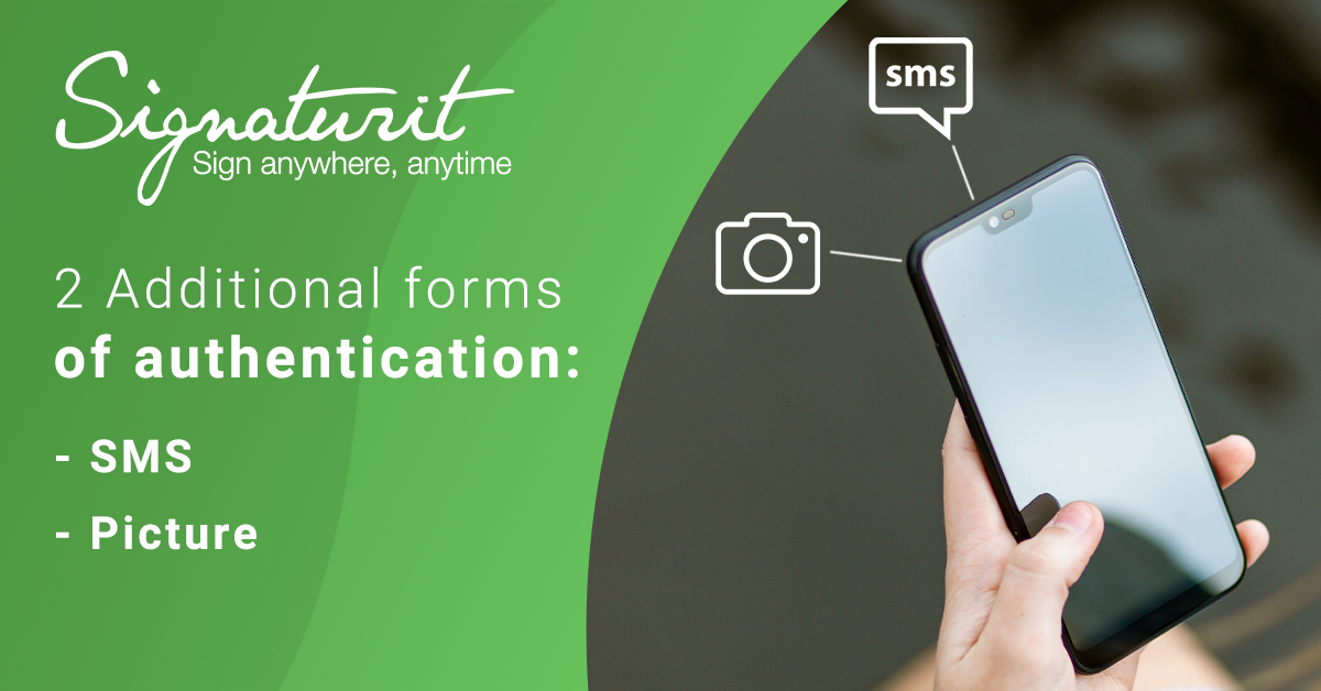 Additional SMS or image signee authentication