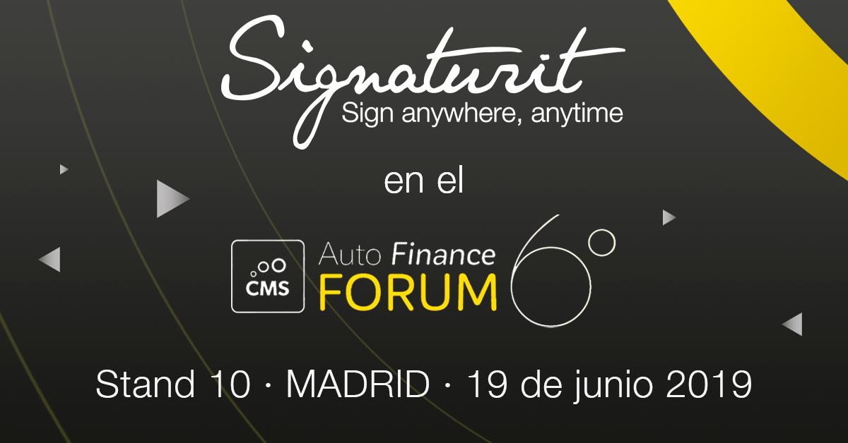 Signaturit, protagonista en el Auto Finance Forum 2019