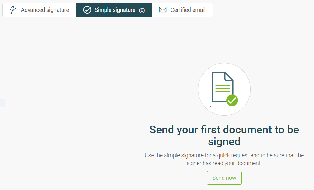 firma simple en
