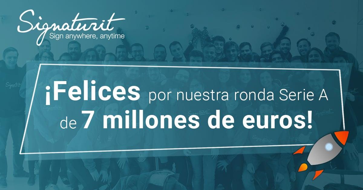 Signaturit cierra una ronda de serie A de 7 millones de euros