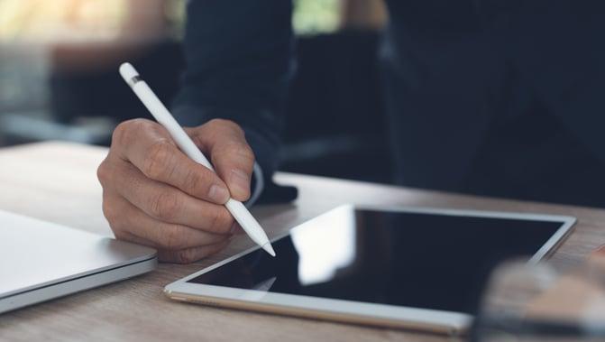 signer tablette