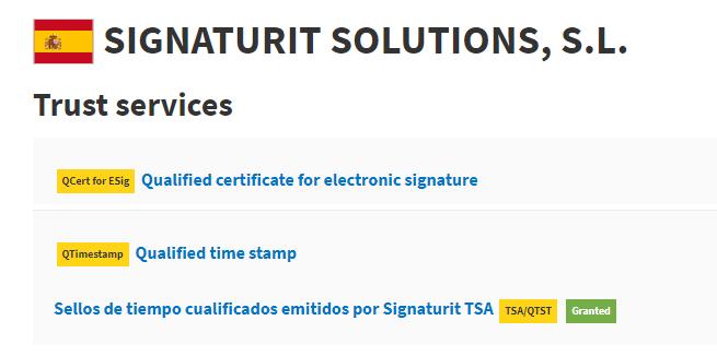 Firma electrónica de Signaturit - Sello de tiempo